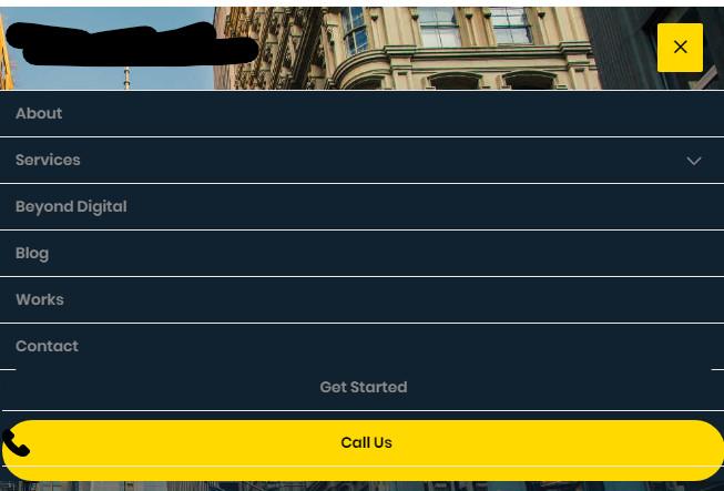 custom responsive mobile menu
