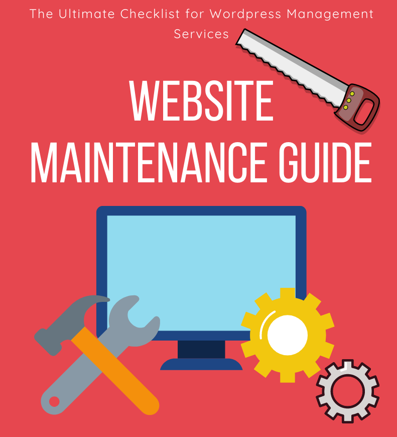 website management and maintenance banner